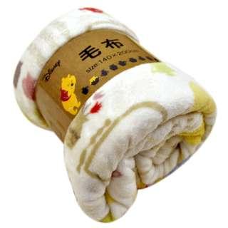 Disney 洗える 毛布【ノルディックプー】 140×200cm シングルサイズ