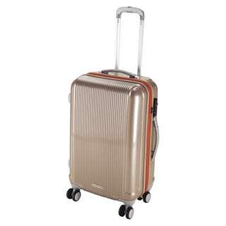 グレル トラベルスーツケース:TSAロック付ダブルファスナータイプ(M/シャンパンベージュ) UV-23