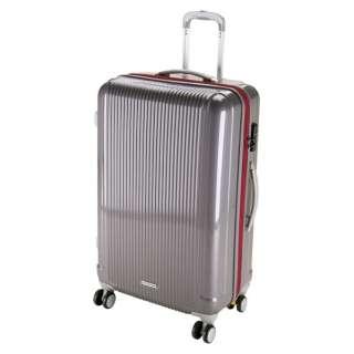 グレル トラベルスーツケース:TSAロック付ダブルファスナータイプ(L/スチールグレー) UV-28