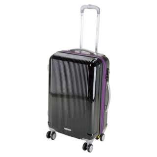 グレル トラベルスーツケース:TSAロック付ダブルファスナータイプ(M/ブラック) UV-32
