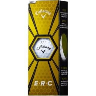 ゴルフ E・R・C ボール《1スリーブ(3球)/ホワイト》 【オウンネーム非対応】
