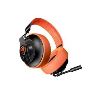 COUGAR ゲーミングヘッドセット オレンジ PC対応 CGR-P40NO-150 [φ3.5mmミニプラグ /両耳 /ヘッドバンドタイプ]