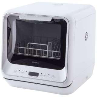 siroca 食器洗い乾燥機 SS-M151 ホワイト [工事不要/コンパクトサイズ/予約タイマー付き/洗いコース4パターン/食器洗い乾燥機] SS-M151 ホワイト [3人用]