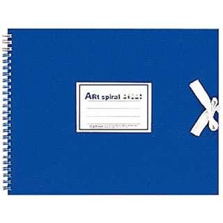 F3 スケッチブック アートスパイラル ブルー S313-02