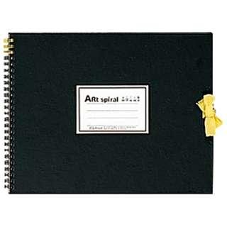 F3 スケッチブック アートスパイラル ブラック S313-05