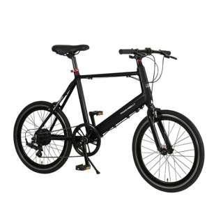 【eバイク】20型 電動アシスト自転車 TRANS MOBILLY E-MAGIC207 トランスモバイリー(ブラック/外装7段変速) EMAGIC_MV207E 【組立商品につき返品不可】