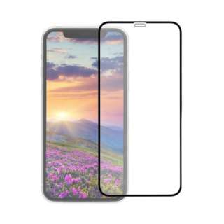 iPhone 11 Pro/Xs/X 5.8インチ 画面保護ガラス 全面保護 貼付けキット付き 3次強化ガラス 0.33mm厚 GLASSフレーム クリア OWL-GUIB58F-BCL ブラック