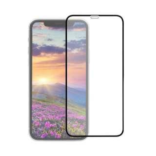 iPhone 11 /XR 6.1インチ 画面保護ガラス 全面保護 貼付けキット付き 3次強化ガラス 0.33mm厚 クリア OWL-GUIB61F-BCL ブラック