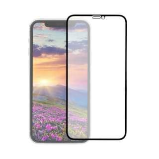 iPhone 11 /XR 6.1インチ 画面保護ガラス 全面保護 貼付けキット付き 3次強化ガラス 0.33mm厚 マット OWL-GUIB61F-BAG ブラック