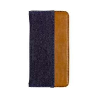 iPhone 11 Pro 5.8インチinch用 カード収納ポケット付き手帳型ケース OWL-CVIB5804-IBBR インディゴブルーxブラウン