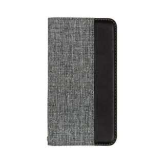 iPhone 11 6.1インチ 用 カード収納ポケット付き手帳型ケース OWL-CVIB6103-GYBK グレーxブラック