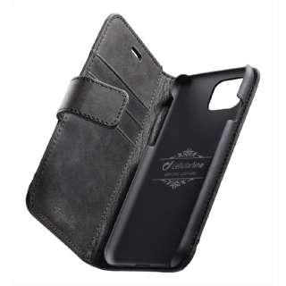 iPhone 11 6.1インチ モデル Supreme 本革手帳型ケース SUPREMECIPHXR2K ブラック