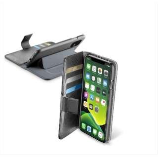 iPhone 11 6.1インチ モデル BookAgenda スタンド付レザー調手帳型ケース BOOKAGENDAIPHXR2K ブラック