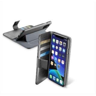 iPhone 11 Pro Max 6.5インチ モデル BookAgenda スタンド付レザー調手帳型ケース BOOKAGIPHXIMAXK ブラック