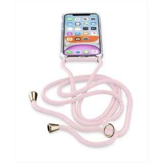 iPhone 11 6.1インチ モデル NECK-CASE ネックストラップ付ケース NECKCASEIPHXR2P ピンク