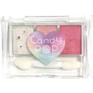 CandyPopmake(キャンディーポップメイク)3色アイシャドウ PK1