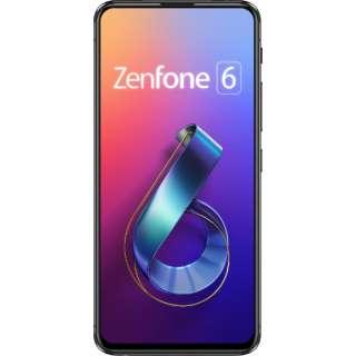 ZenFone 6 ミッドナイトブラック「ZS630KL-BK256S8」Snapdragon 855 6.4型 メモリ/ストレージ: 8GB/256GB nanoSIM x2 DSDV対応 ドコモ/au/ソフトバンク/YmobileSIM対応 SIMフリースマートフォン