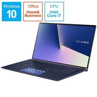 ZenBook 15 ノートパソコン ロイヤルブルー UX534FT-A9012TS [15.6型 /intel Core i7 /SSD:512GB /メモリ:16GB /2019年8月モデル]