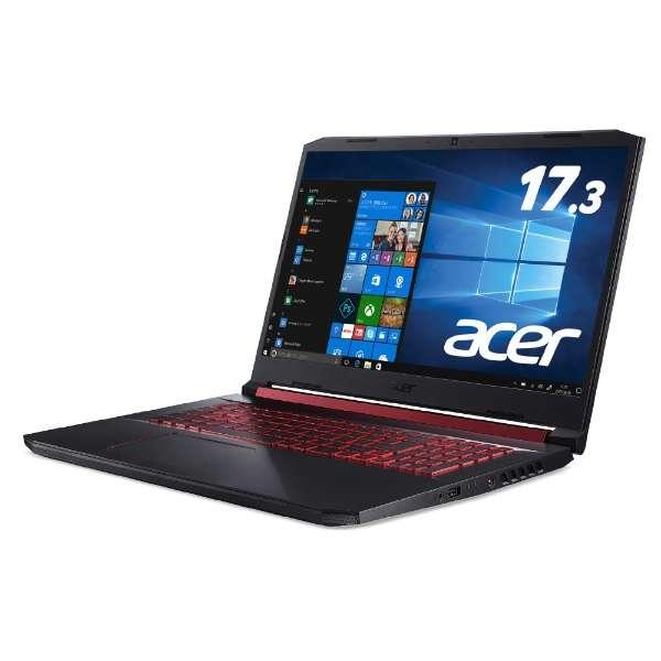 ゲーミングノートパソコン オブシディアンブラック AN517-51-A76UG6T [17.3型 /intel Core i7 /HDD:1TB /SSD:256GB /メモリ:16GB /2019年8月モデル]