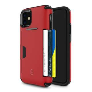 iPhone 11 6.1インチ PATCHWORKS LEVEL WALLET ケース 41-902363 レッド