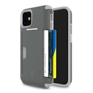 iPhone 11 6.1インチ PATCHWORKS LEVEL WALLET ケース 41-902387 グレー