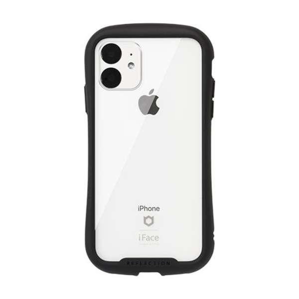 iPhone 11 6.1インチ iFace Reflection強化ガラスクリアケース 41-907351 ブラック