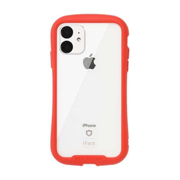 iPhone 11 6.1インチ iFace Reflection強化ガラスクリアケース 41-907382 レッド