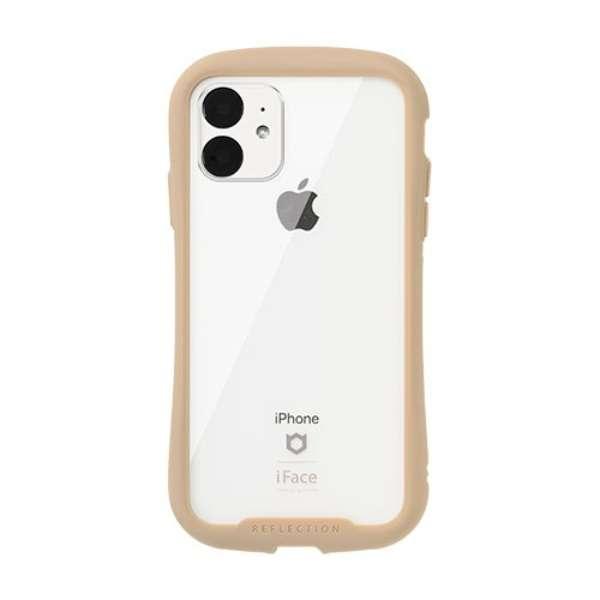 iPhone 11 6.1インチ iFace Reflection強化ガラスクリアケース 41-907399 ベージュ