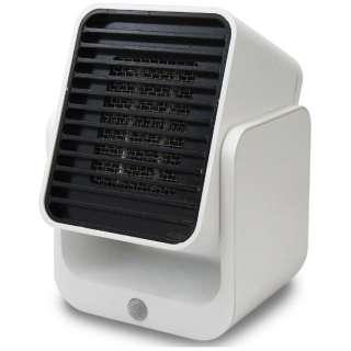 コンパクトセラミックヒーター SC-CH350 WT ホワイト [人感センサー付き]
