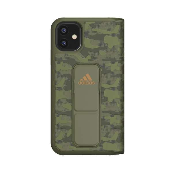 iPhone 11 6.1インチ  SP Folio grip case CAMO Tech olive 36435