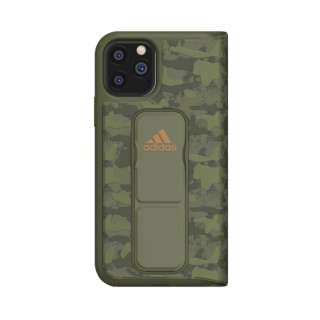 iPhone 11 Pro 5.8インチ SP Folio grip case CAMO Tech olive 36436