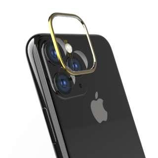 iPhone 11 Pro Max 6.5インチ カメラレンズ保護セット ゴールド TR-IP19L-LBPP-GD