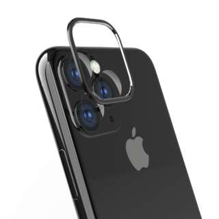 iPhone 11 6.1インチ カメラレンズ保護セット ブラック TR-IP19M-LBPP-BK