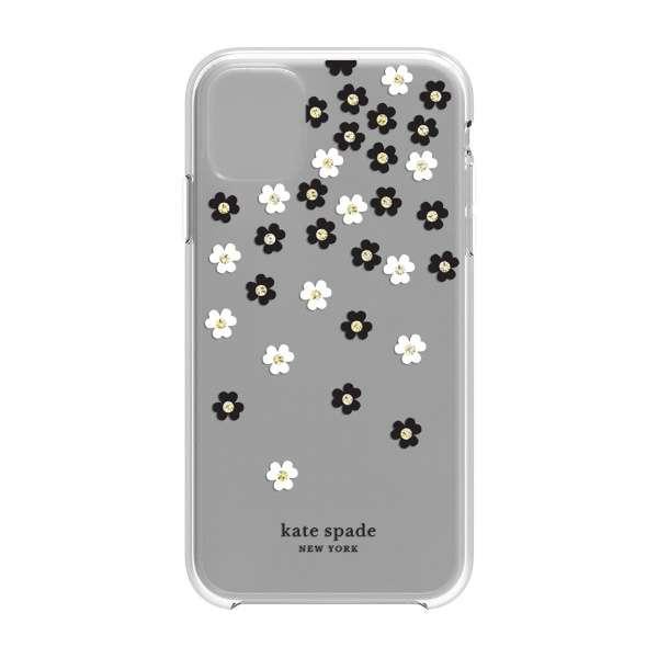 iPhone 11 6.1インチ   Hardshell SCATTERED FLOWERS BK/WH/GG/CL KSIPH-131-SFLBW