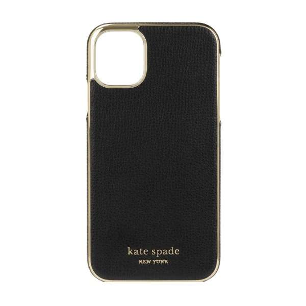 iPhone 11 6.1インチ  Inlay Wrap black pu KSIPH-140-BLKC