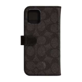 iPhone 11 6.1インチ  コーチ Coach WALLET ケース SIGNATURE C FOLIO Black CIPH-020-SCBLK
