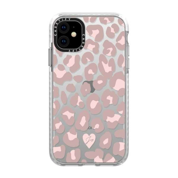 iPhone 11 6.1インチ  Dusty Pink Leopard Phone Case CTF-6318569-16000088