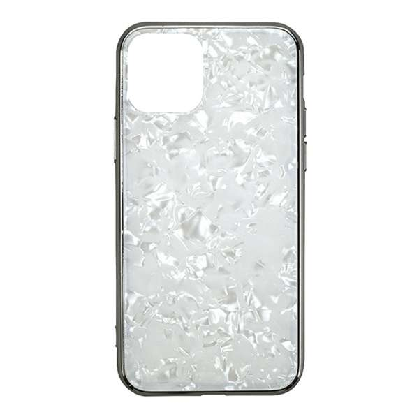 iPhone 11 6.1インチ  ケース Glass Shell Case white UNI-CSIP19M-0GSWH
