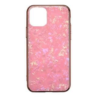 iPhone 11 6.1インチ  ケース Glass Shell Case pink UNI-CSIP19M-0GSPK