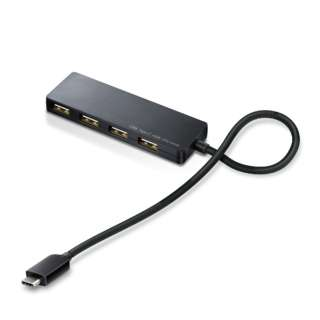 U2HC-A430BXBK Type-C/Aメス4ポート/バスパワー/30cmケーブル/ブラック
