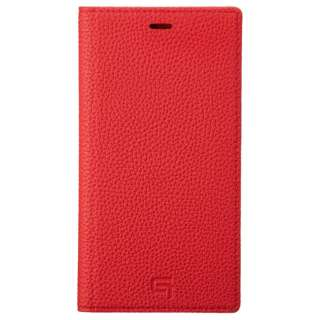 Shrunken-calf Leather Book  for iPhone 11 6.1インチ RED GBCSC-IP02RED