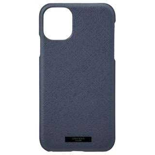 EUROpassione PU Leather Shell  for iPhone 11 6.1インチ NVY CSCEP-IP02NVY