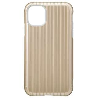 Rib Hybrid Shell Case for iPhone 11 6.1インチ GLD CHCRB-IP02GLD