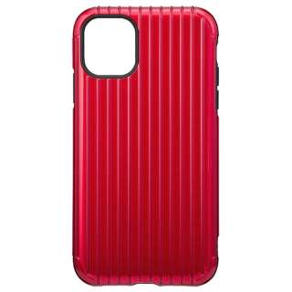 Rib Hybrid Shell Case for iPhone 11 6.1インチ RED CHCRB-IP02RED