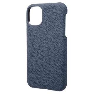 Shrunken-calf Leather Shell  for iPhone 11 6.1インチ NVY GSCSC-IP02NVY