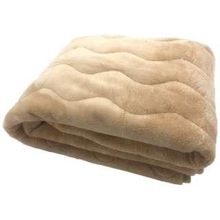 【敷きパッド】ミンクタッチ長毛フランネル敷きパッド ダブルサイズ(140×205cm/ベージュ)