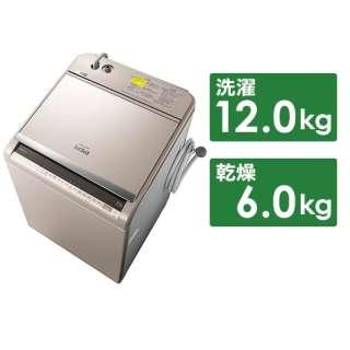 BW-DV120E-N 縦型洗濯乾燥機 ビートウォッシュ シャンパン [洗濯12.0kg /乾燥6.0kg /ヒーター乾燥(水冷・除湿タイプ) /上開き]