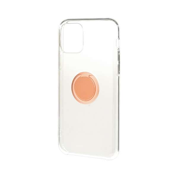 iPhone 11 6.1インチ モデル トライタンリングケース 5113IP961TR ローズゴールド