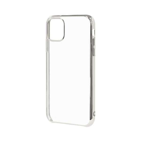 iPhone 11 6.1インチ モデル トライタンメタルフレームケース 5116IP961TR シルバー