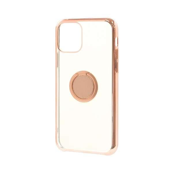 iPhone 11 6.1インチ モデル トライタンリングメタルフレームケース 5123IP961TR ライトピンク